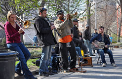 Trad. Fascia di jazz, villaggio New York di Greenich Immagine Stock