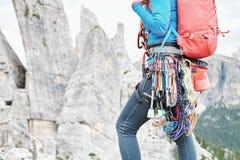 Trad slut för klättringkugghjulkugge upp arkivbilder