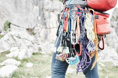 Trad slut för klättringkugghjulkugge upp royaltyfri bild
