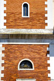 Tradate varese italy abstract  window   in red orange Royalty Free Stock Photography