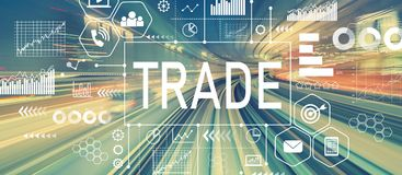 Trade with abstract high speed technology Stock Photography