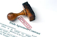 Trade agreement contract Royalty Free Stock Images
