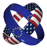 Trade Agreement USA and EU Royalty Free Stock Images