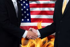 Trade agreements and business practices in the United States royalty free stock photo