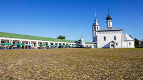 Trade area in Suzdal, Russia Royalty Free Stock Image