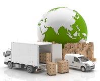 Trade in Asia - Transportation stock illustration