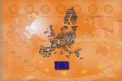 Trade background EU orange Royalty Free Stock Image