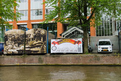 Trade booths on the market Waterlooplein in Amsterdam. Royalty Free Stock Photography