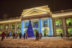 Trade center Big Gostiny Dvor. On Nevsky Prospekt closeup Stock Images