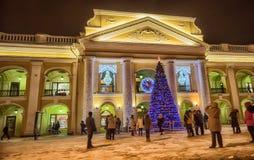 Trade center Big Gostiny Dvor. On Nevsky Prospekt closeup Stock Photos