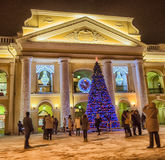 Trade center Big Gostiny Dvor. On Nevsky Prospekt closeup Stock Photo