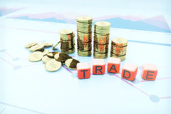Trade coins Royalty Free Stock Photo