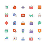 Trade Colored Vector Icons 2 Stock Photography
