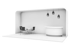 Trade Commercial Exhibition Stand. 3d rendering Royalty Free Stock Image