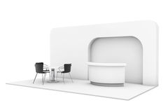 Trade Commercial Exhibition Stand. 3d rendering Royalty Free Stock Photography