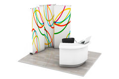 Trade Commercial Exhibition Stand Royalty Free Stock Image
