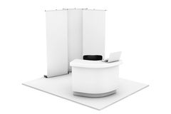 Trade Commercial Exhibition Stand Royalty Free Stock Photography