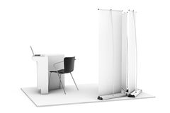 Trade Commercial Exhibition Stand Royalty Free Stock Photos