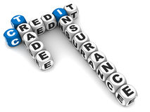 Trade credit insurance. Concept of trade credit insurance, words in crossword formation on white background Stock Photo