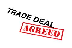 Trade Deal Agreed. Trade Deal heading stamped with a red AGREED rubber stamp royalty free stock image