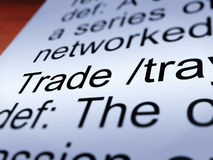 Trade Definition Closeup Showing Import And Export Royalty Free Stock Images