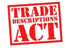 TRADE DESCRIPTIONS ACT Stock Image