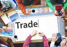 Trade Exchange Import Export Business Transaction Concept Stock Photo