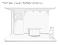 Trade Exhibition Show Booth. Stock Images