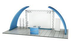 Trade Exhibition Stand royalty free illustration