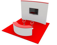 Trade exhibition stand 3d. Render Royalty Free Stock Photo