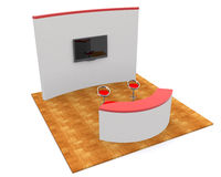 Trade exhibition stand 3d Royalty Free Stock Photo