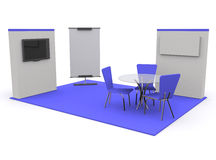 Trade exhibition stand 3d Stock Photography
