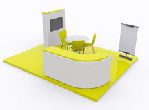 Trade exhibition stand 3d Royalty Free Stock Image