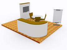 Trade exhibition stand 3d Stock Images
