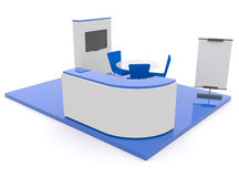 Trade exhibition stand 3d Royalty Free Stock Images