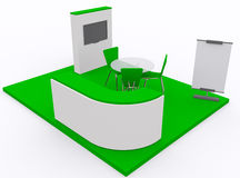 Trade exhibition stand 3d Royalty Free Stock Photography