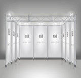 Trade exhibition stand display. Stock Photo