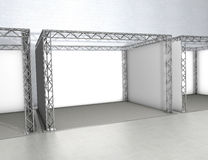 Trade exhibition stands royalty free illustration
