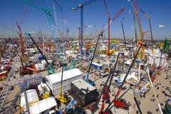 Trade fair for building machines Stock Photos