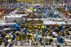 Trade fair for building machines Royalty Free Stock Photography