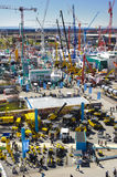 Trade fair for building machines Stock Images