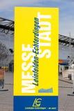 Trade fair city Leinfelden-Echterdingen, advertisement Stock Image