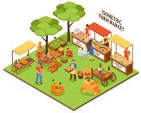 Trade Fair Market Illustration Stock Image