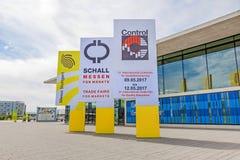Trade fair Stuttgart, International leading trade fair for quality management Stock Photos