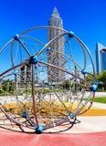 Trade Fair Tower from Skyline Garden Plaza in Frankfurt, Germany Stock Image