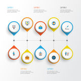 Trade Flat Icons Set. Collection Of Presenting Man, Developer, Statistics And Other Elements. Also Includes Symbols Such. Trade Flat Icons Set. Collection Of Stock Illustration