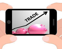 Trade Graph Displays Increase In Buying And Selling Stock Photography
