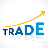 Trade growth graph design Stock Images