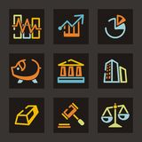 Trade Icon Series Stock Images