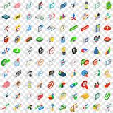100 trade icons set, isometric 3d style Royalty Free Stock Photos